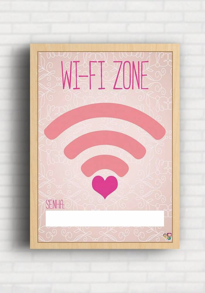 Poster wi fi zone top quadros tq072 posters for Poster pour chambre