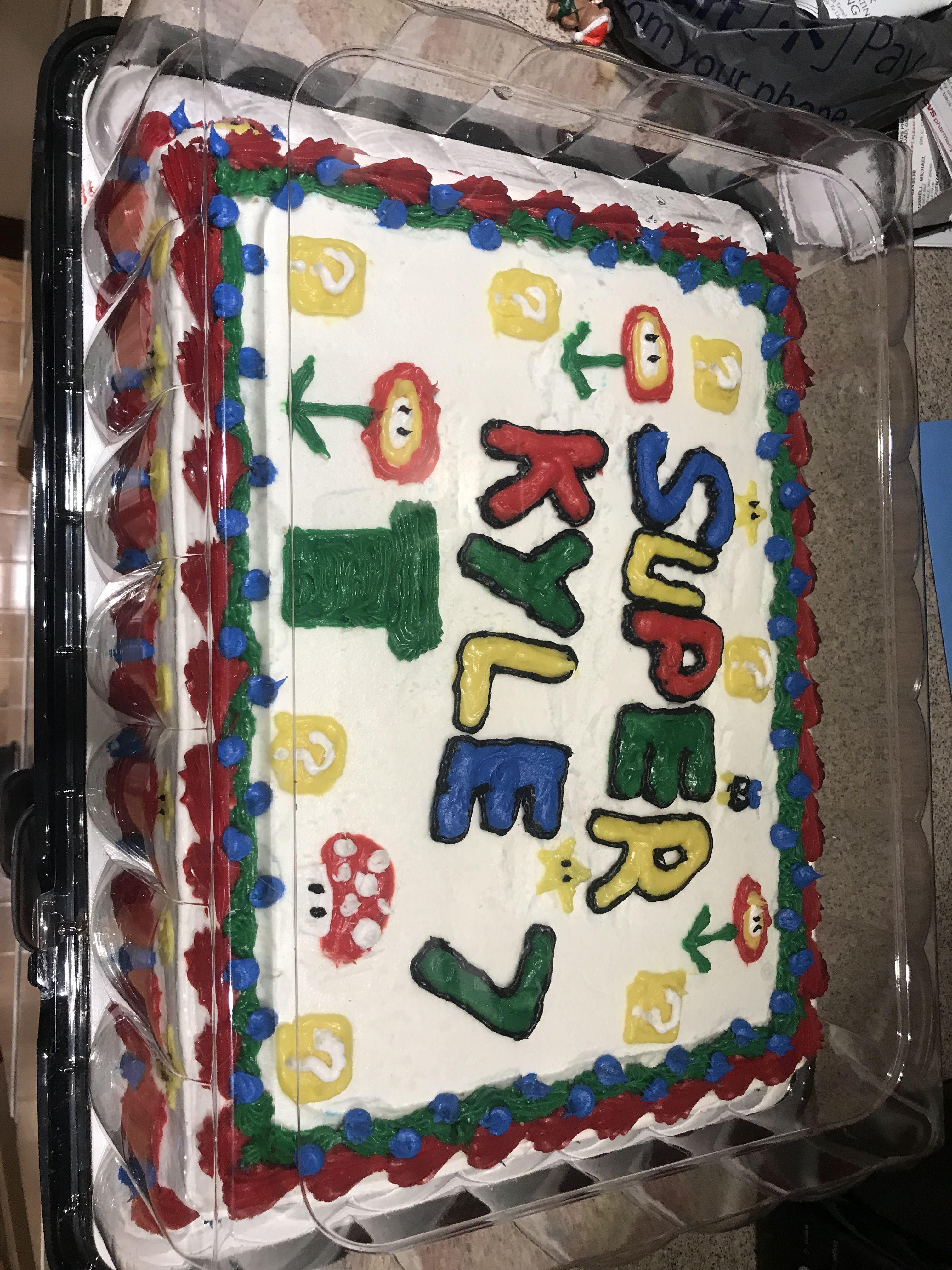 Kyles super mario cake super mario cake mario cake cake
