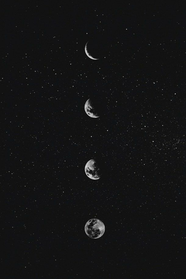 Under The Same Stars And Moon We are so in love with the past, we forget to get excited about the future. #darkiphonewallpaper