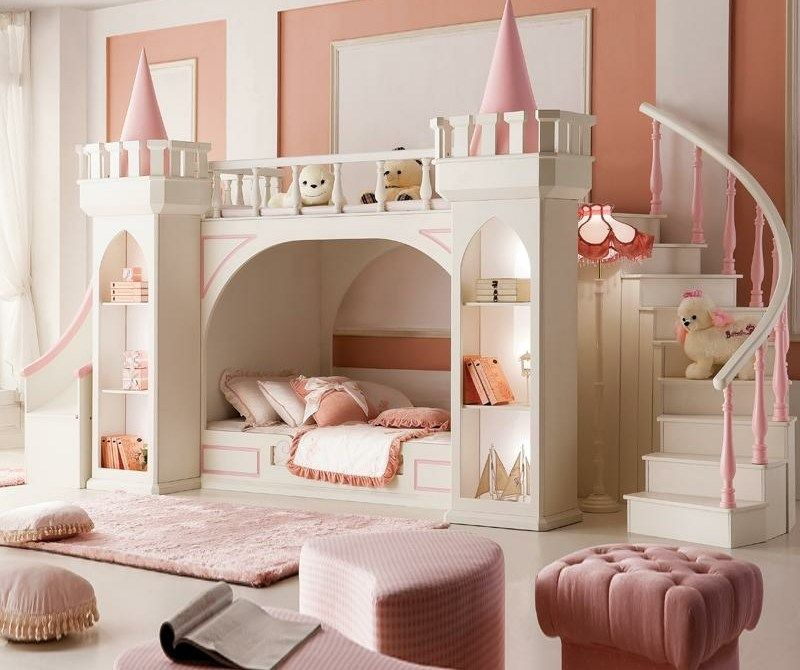 lit enfant pour la chambre fille ou gar on en 41 exemples. Black Bedroom Furniture Sets. Home Design Ideas