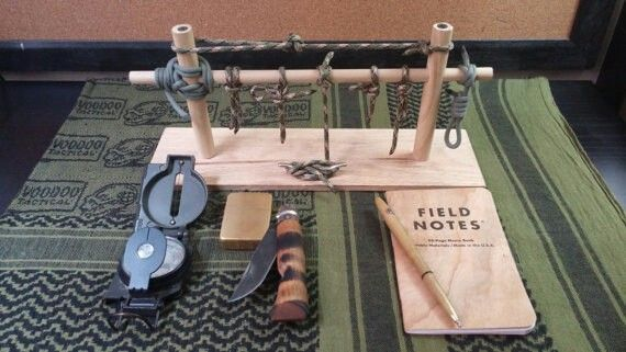 Paracord knot tying practice jig!