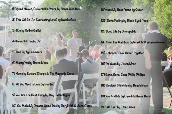 Wedding Music List Top 20 Wedding Recessional Songs Of 2013 What