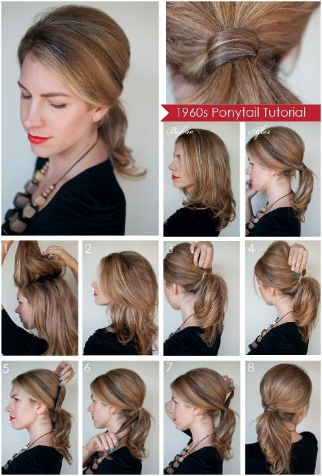 Diy Ponytail Hairstyles For Medium Long Hair Popular Haircuts Diy Ponytail Hairstyles Medium Hair Styles Long Hair Updo