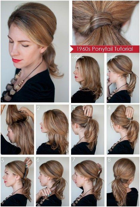 Diy Ponytail Hairstyles For Medium Long Hair Popular Haircuts Long Hair Updo Diy Ponytail Hairstyles Hair Romance