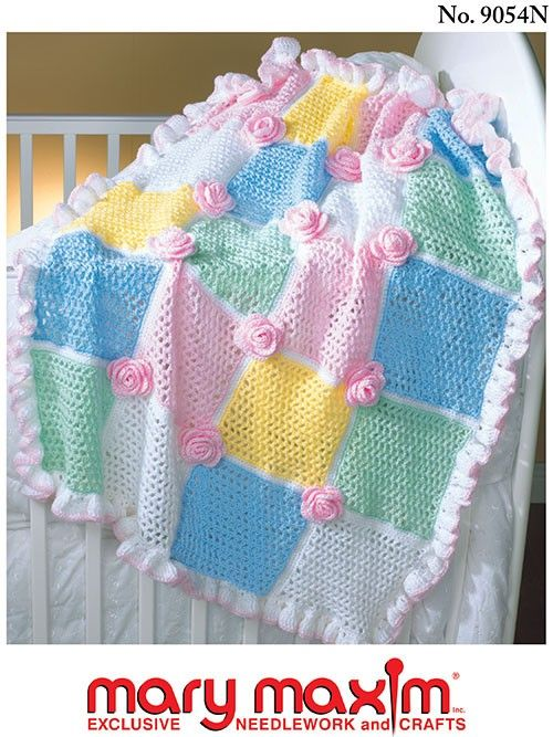 Ruffles and Roses Afghan Pattern   Baby blanket   Pinterest   Bebes ...