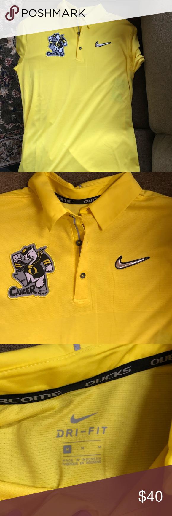 1529236f34a928 Nike Oregon Ducks polo  NWT  Brand new. Stomp out cancer polo! Sunshine  yellow. Nike Shirts Polos