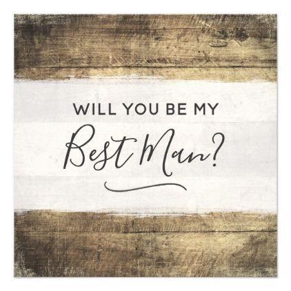 Will You Be My Best Man Rustic Wood Farm Wedding Card Wedding card - best of invitation card about wedding