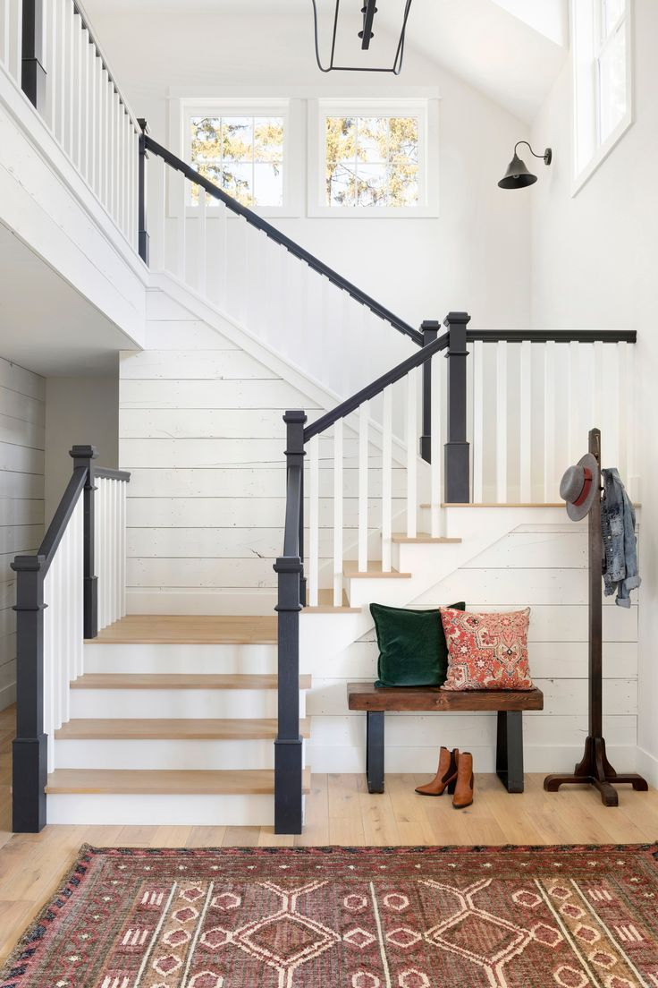 Jess Keys | Home Decor Inspiration -  The staircase design and entryway in our Award-Winning Farmhouse Rebuild, Hidden Hillside.  - #cutehomedecorations #decor #diyHousedesign #diyInteriordesign #home #Housestyles #inspiration #Jess #keys #simplehousediy