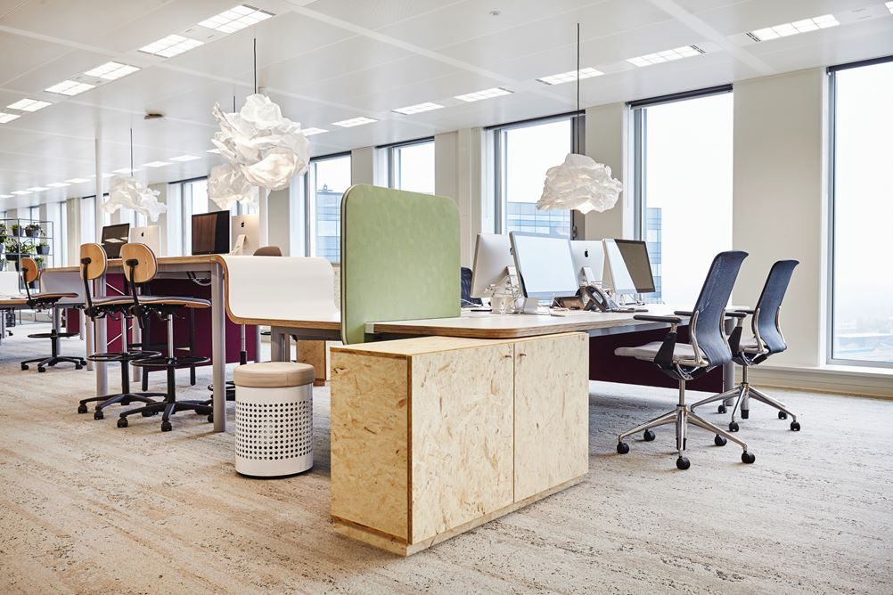 durchgehende Tischplatte für sitz und steharbeitsplätze OVG - buro schreibtisch designs steigern