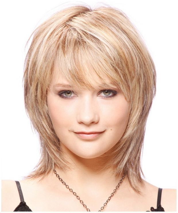 Layered Medium Length Hairstyles Round Faces: Pin On Hair & Beauty