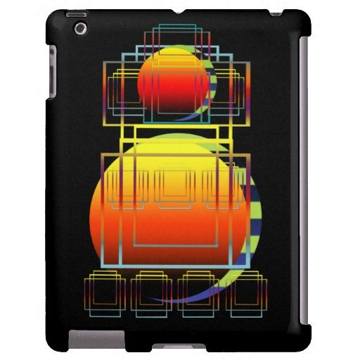 iPad Case | Geometric Abstract Shapes Black #zazzle