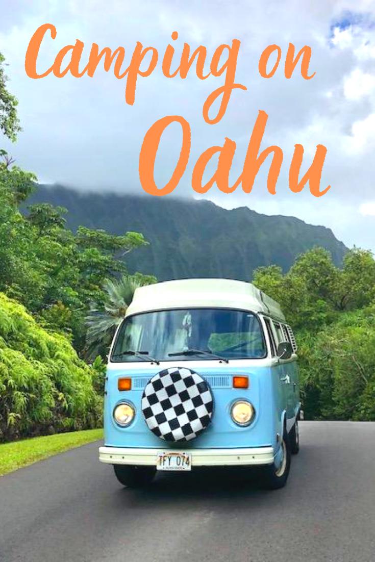 Camping On Oahu Oahu Vintage Volkswagen Travel Usa