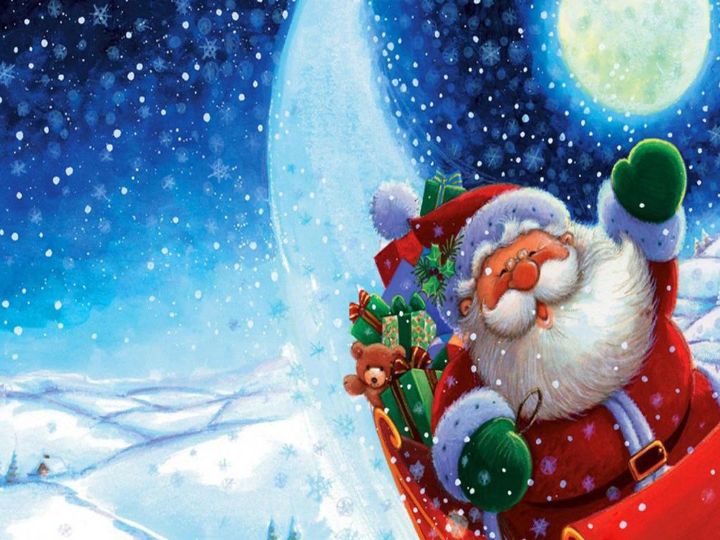 Merry Christmas Backgrounds Free | Free Merry Christmas Santa ...