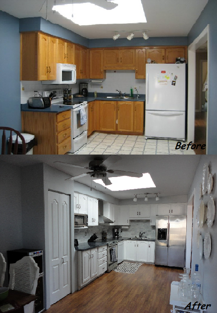 Kitchen DIY remodel# DIY# Kitchen# Cheap Kitchen Reno ...