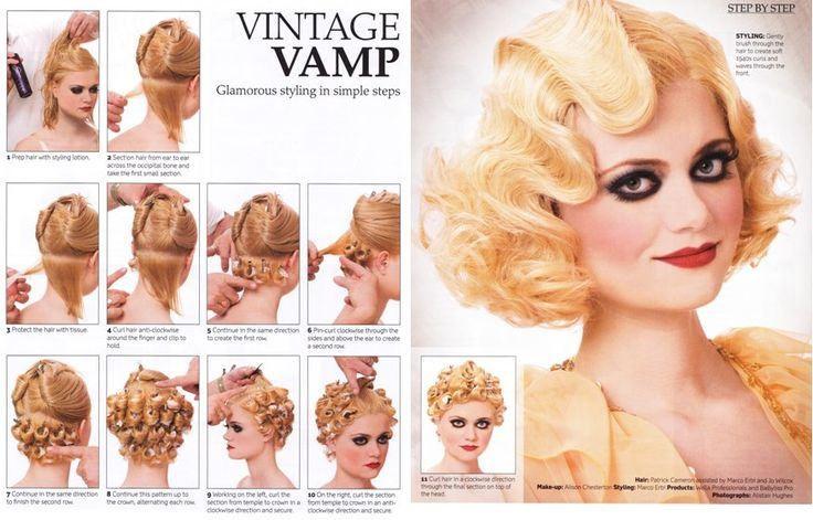 Hair haare frisuren peinados Vintage frisuren