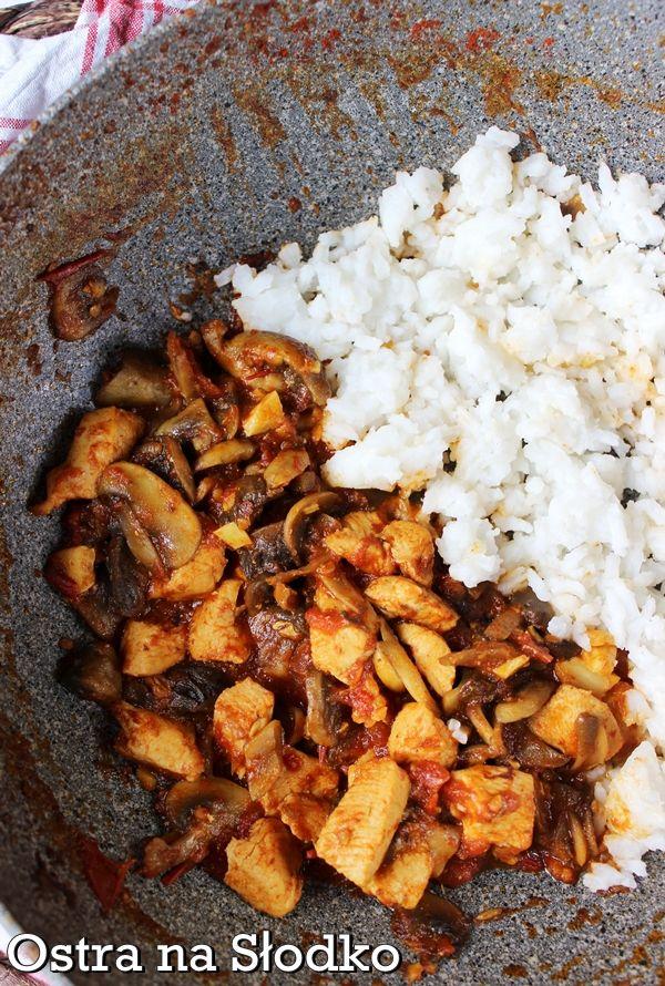 Murgh Kari Indyjskie Curry Z Kurczaka Z Pieczarkami