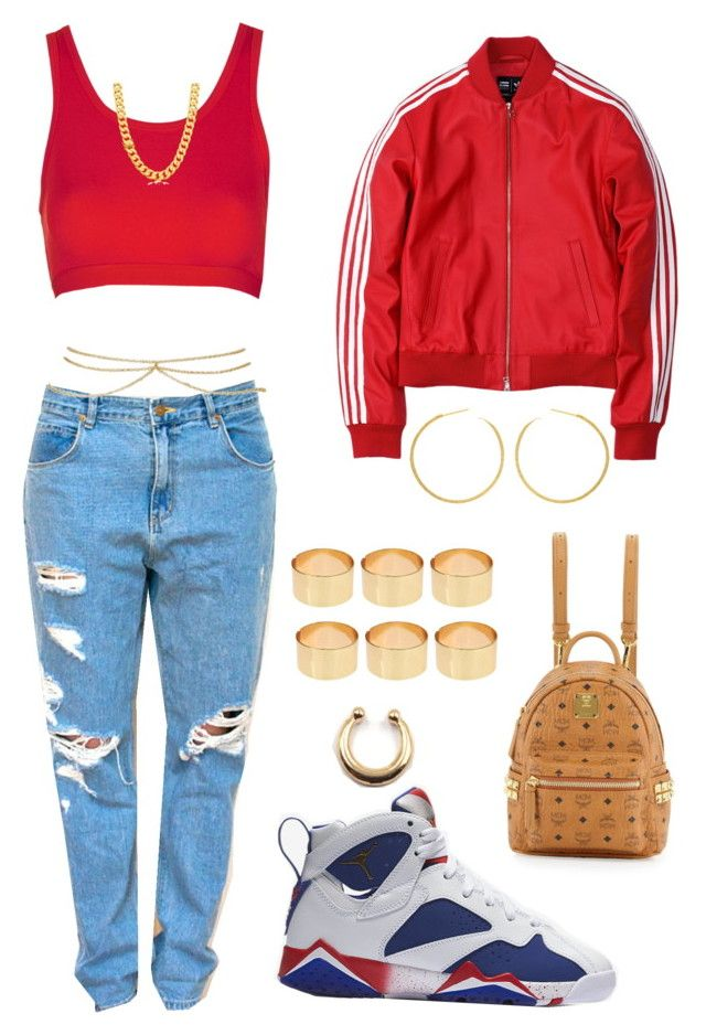 """Untitled #822"" by msnh ❤ liked on Polyvore featuring Topshop, NIKE, adidas, ASOS and MCM"