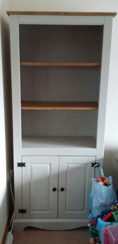 Corona Bookcase Upcycled In Authentico Linen. Mexican Pine.