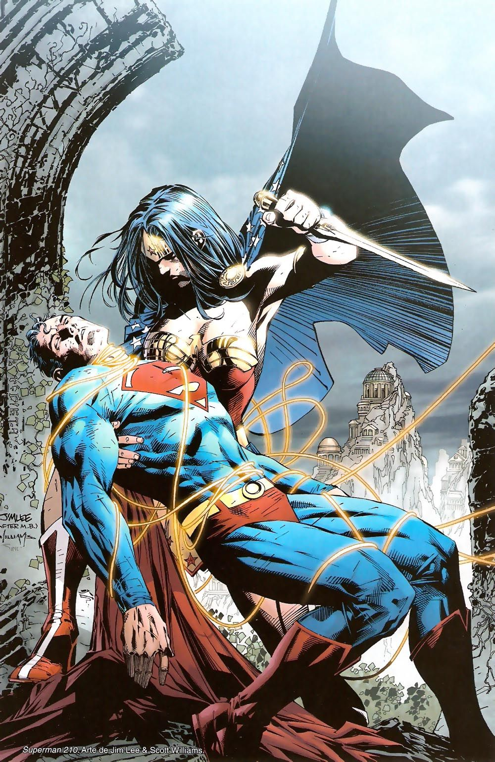 Superman vs Wonder Woman by Jim Lee Kal El Pinterest