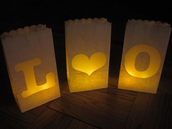 Diy Paper Bag Luminaries Super Cute For The Balcony At Our