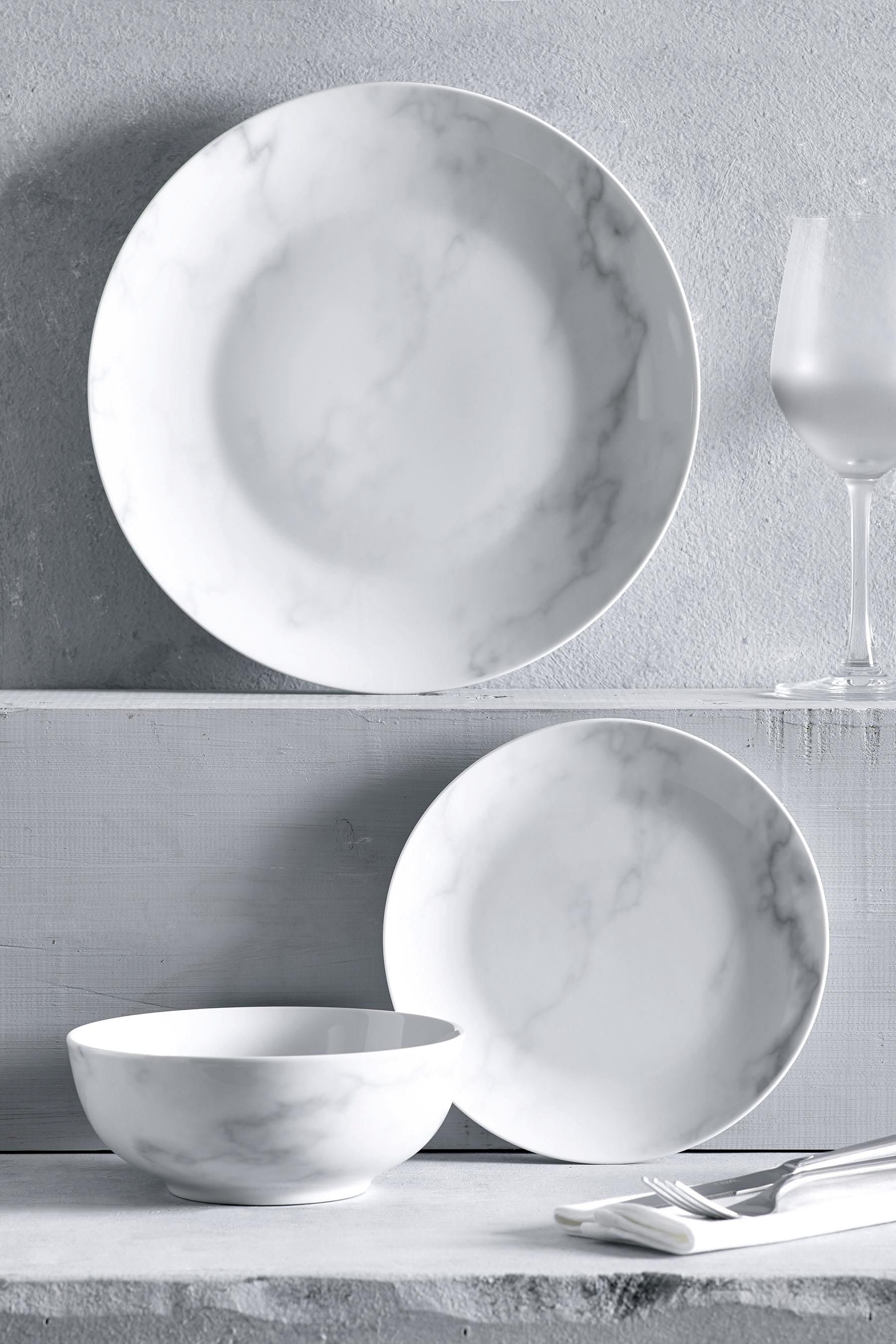 Buy 12 Piece Marble Dinner Set From The Next Uk Online