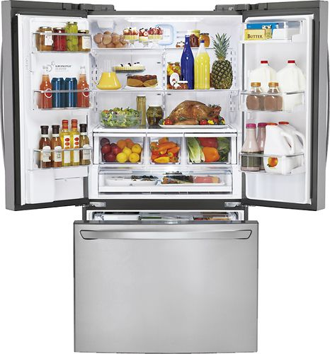 20 Cubic Feet Storage Capacity In Fridge Area Lg French Door Refrigerator French Door Refrigerator Refrigerator Lg