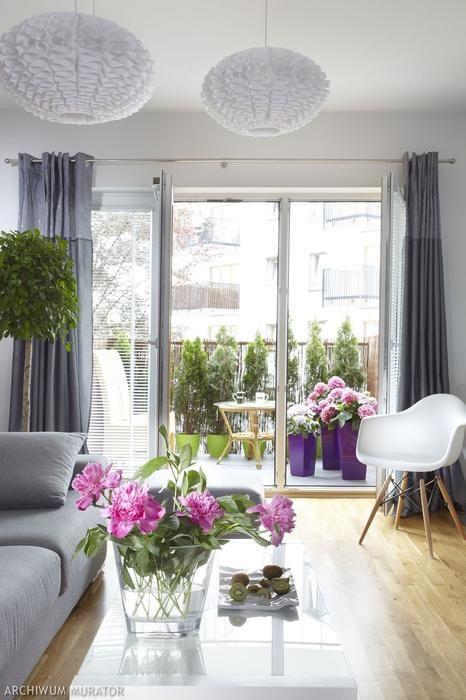 zdjęcia salonu w bloku Einrichten Pinterest Balkon, Dekorieren