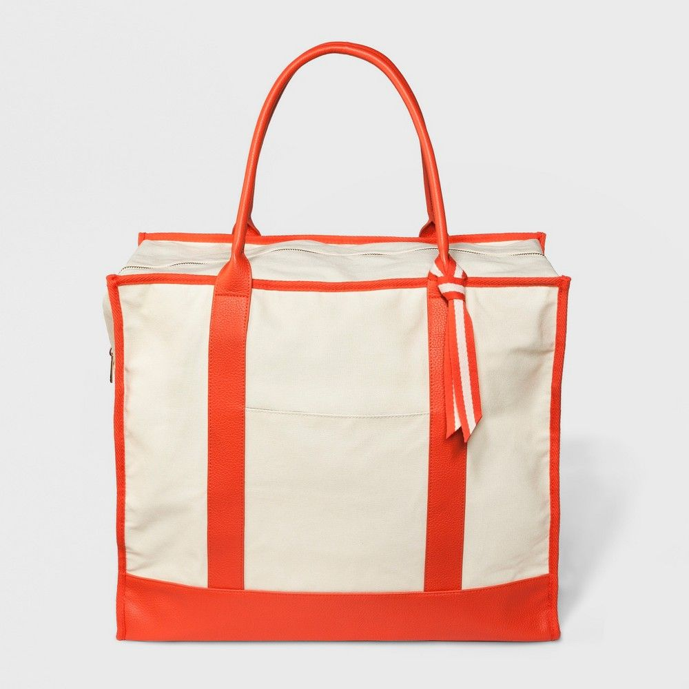 Women s Canvas Weekender Bag - A New Day Natural  8e929d951c284