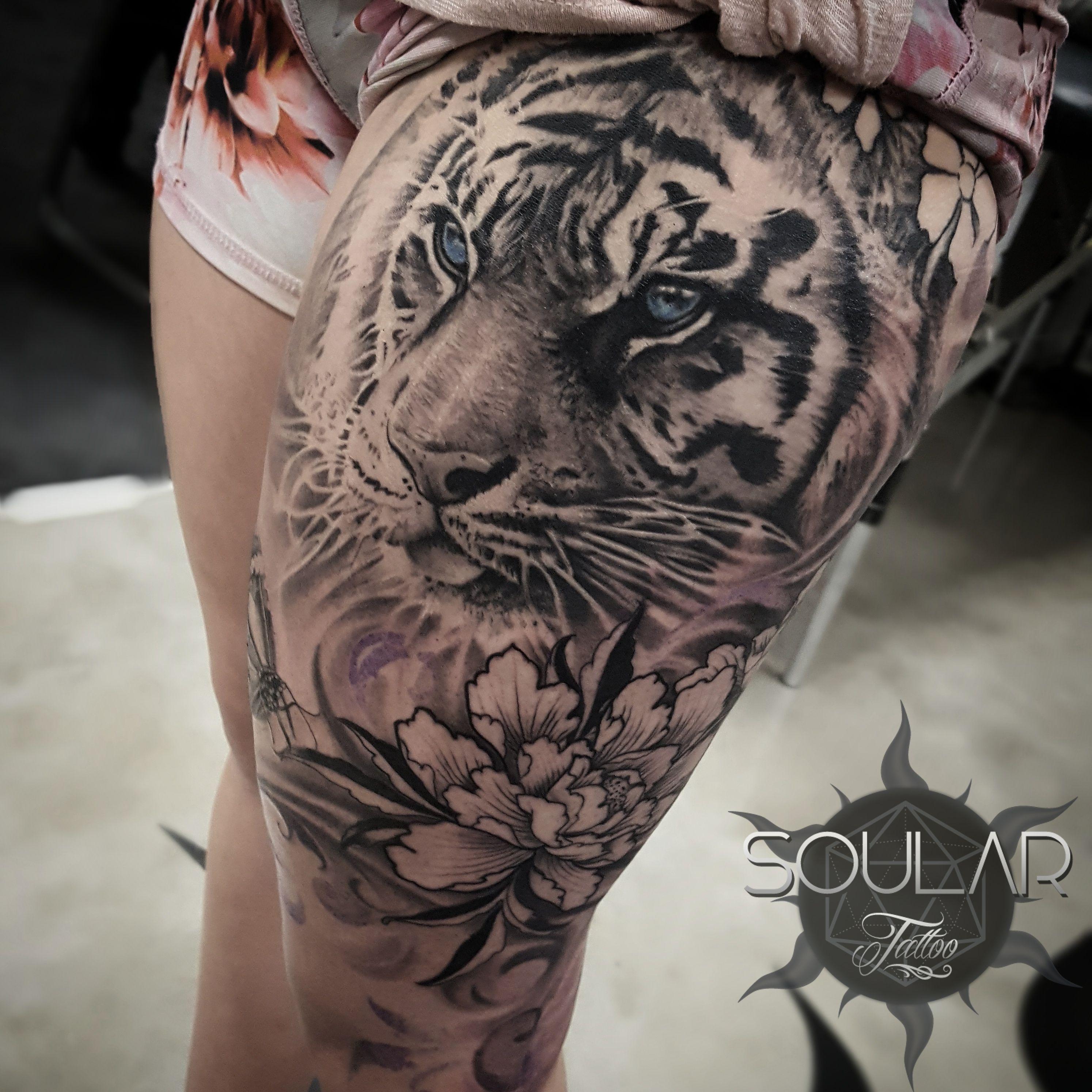 2e5efe119 Girls Tiger tattoo by @matt_parkin_art - Soular Tattoo - Christchurch - NZ