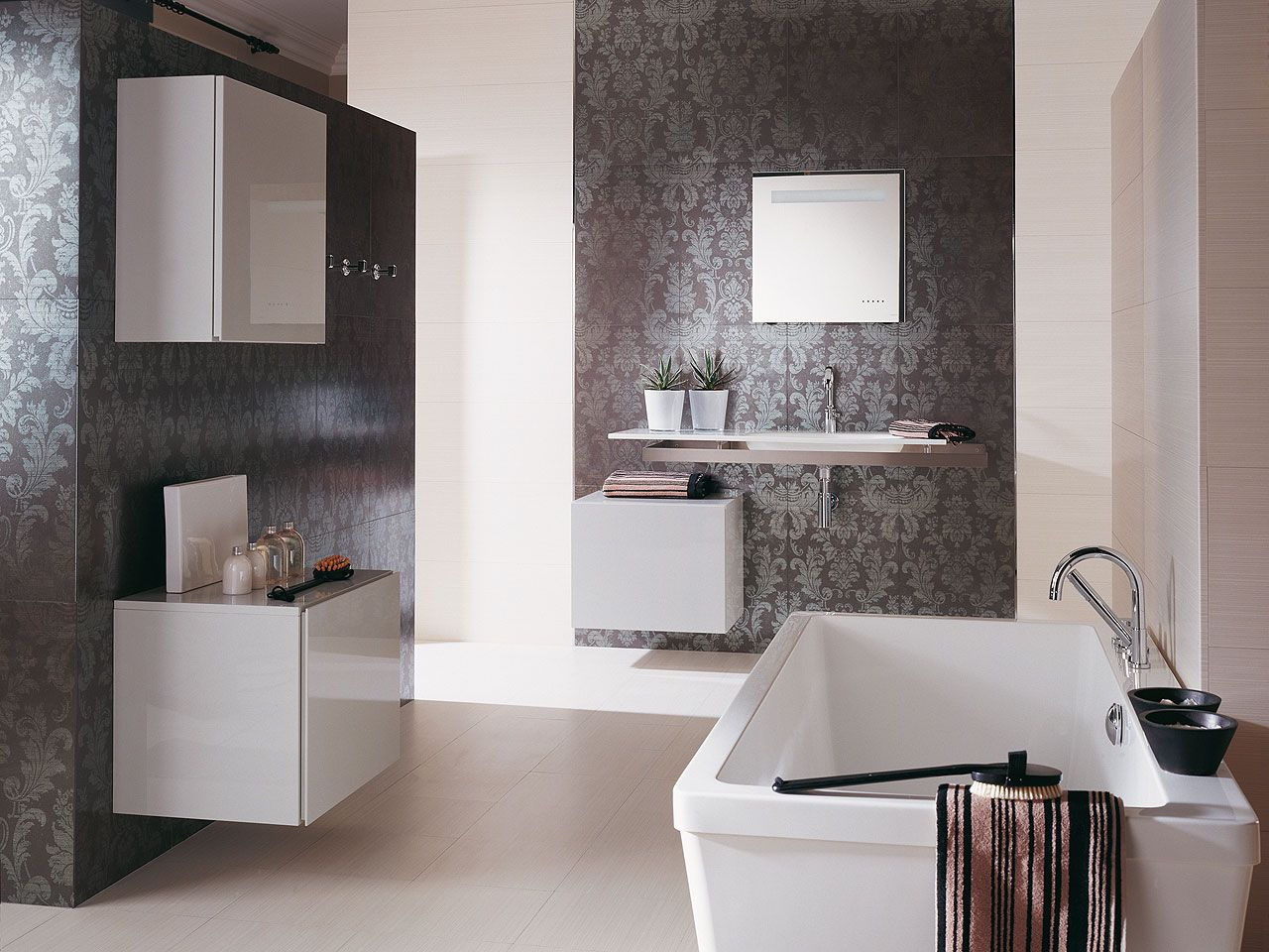 Porcelanosa 39 s wall tiles for luxury bathroom space wall for Porcelanosa bathroom designs