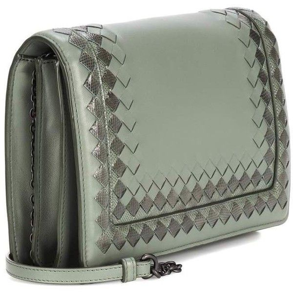 Bottega Veneta Intrecciato Leather Shoulder Bag (185.720 RUB) ❤ liked on  Polyvore featuring bags ead980269698b