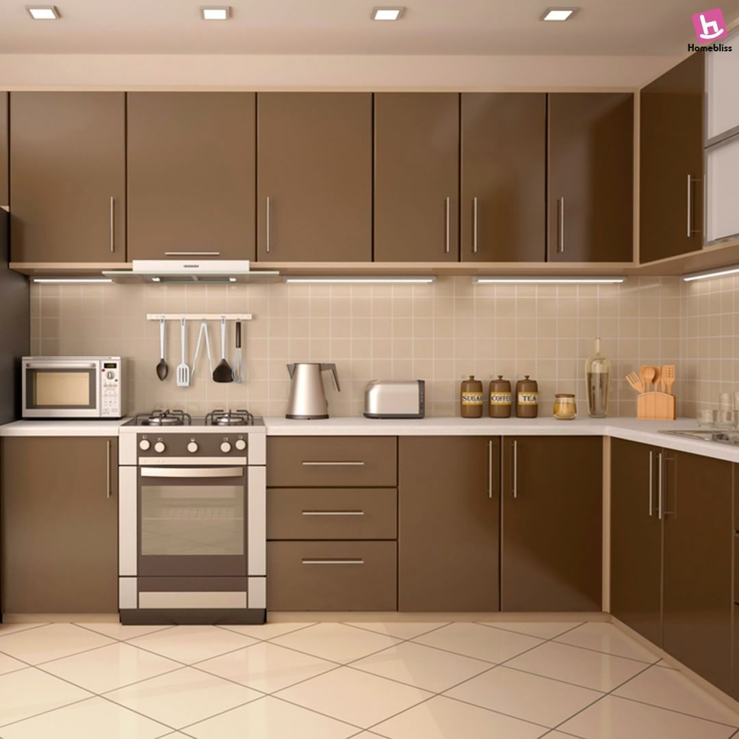 L Shaped kitchen for better space and design ...