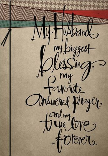 My Answered Prayers Husband Birthday Card Large