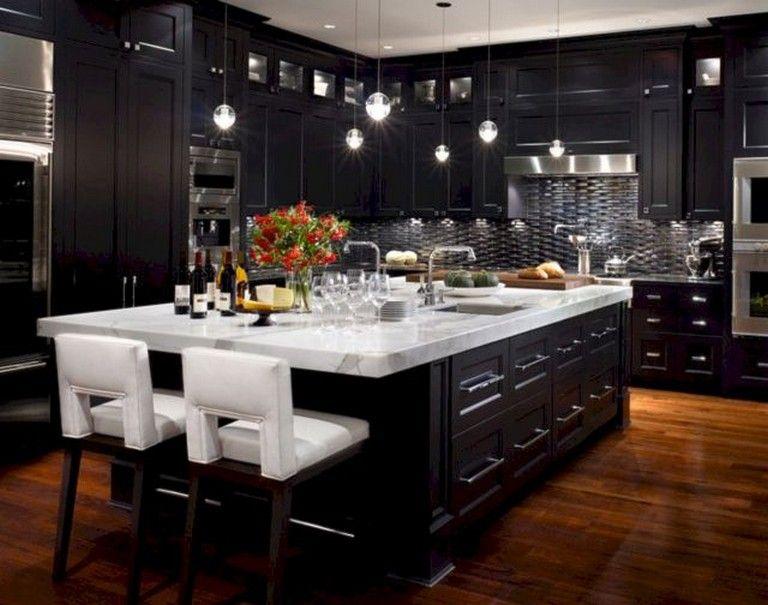 52 Amazing Luxury Black Kitchen Design Ideas Dream Kitchens Design Luxury Kitchens Home Decor Kitchen