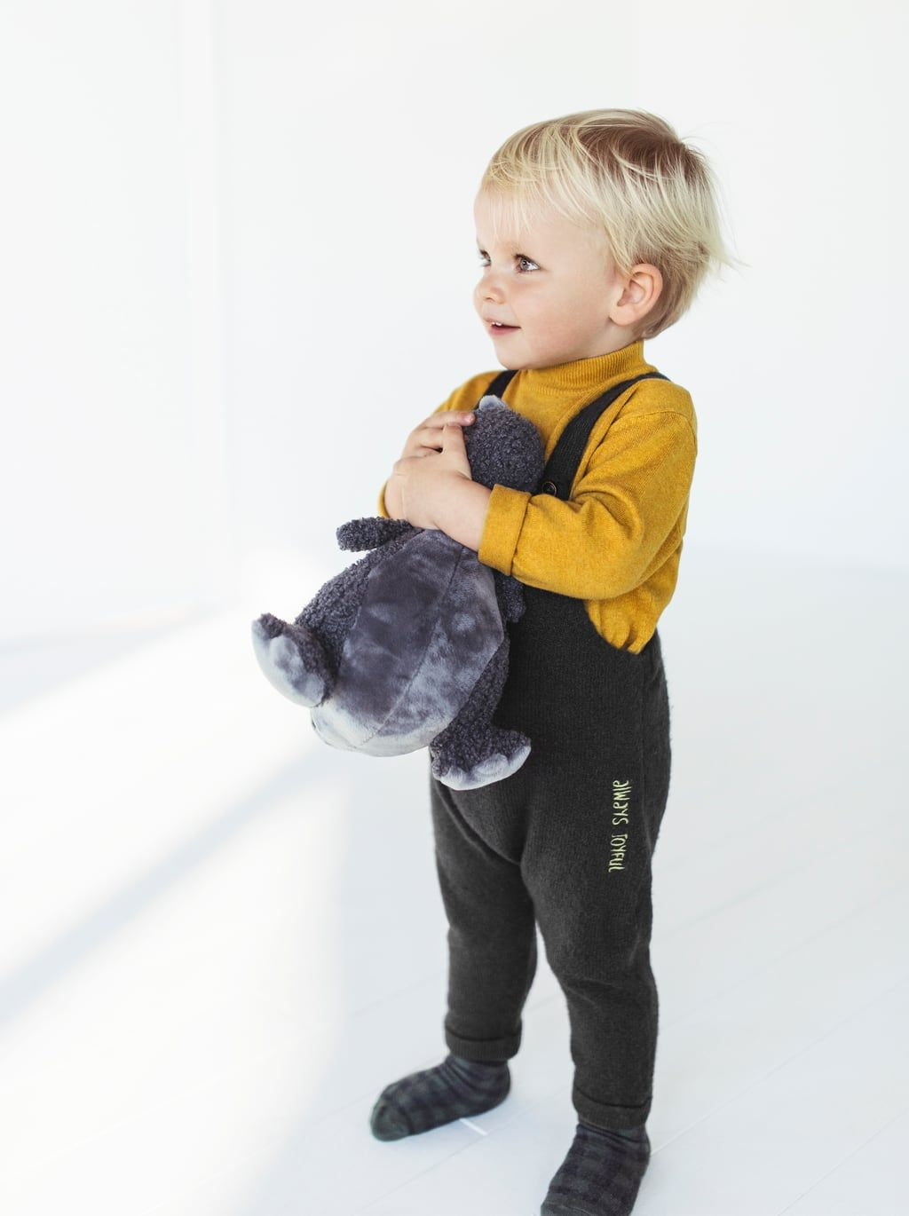 ZARA - KIDS - KNIT OVERALLS WITH TEXT | Baby outfit junge ...