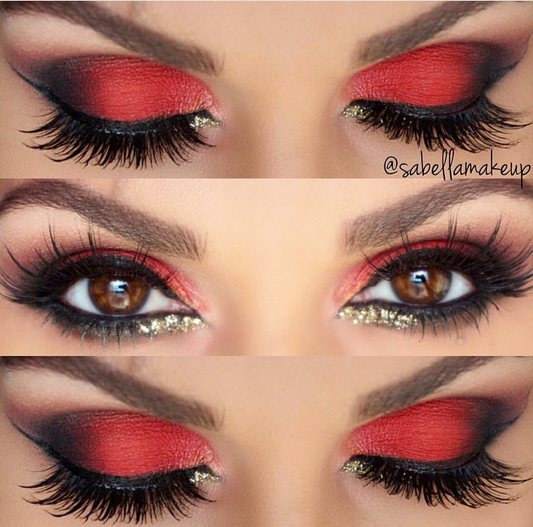Eyes makeup trends in red pinterest makeup eye and makeup ideas