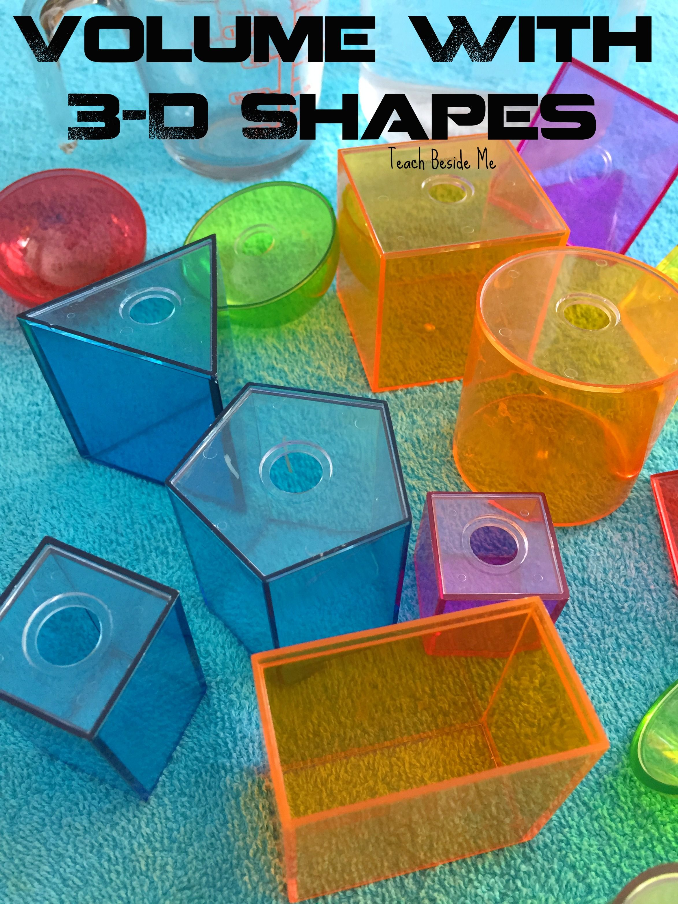Measuring Volume Of 3 D Shapes