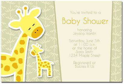 Superb Giraffe Baby Shower Invitation
