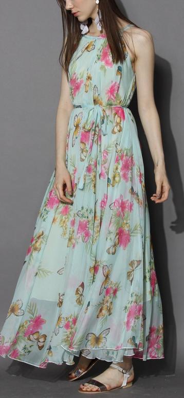 Serene Belle Floral Maxi Slip Dress - Floral - Dress - Retro f1528c380