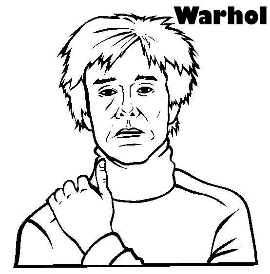 Warhol para colorear | Pop Art Warhol | Pinterest | Warhol, Colorear ...