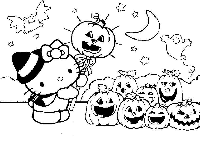 Pin on Ausmalbilder Kitty Halloween