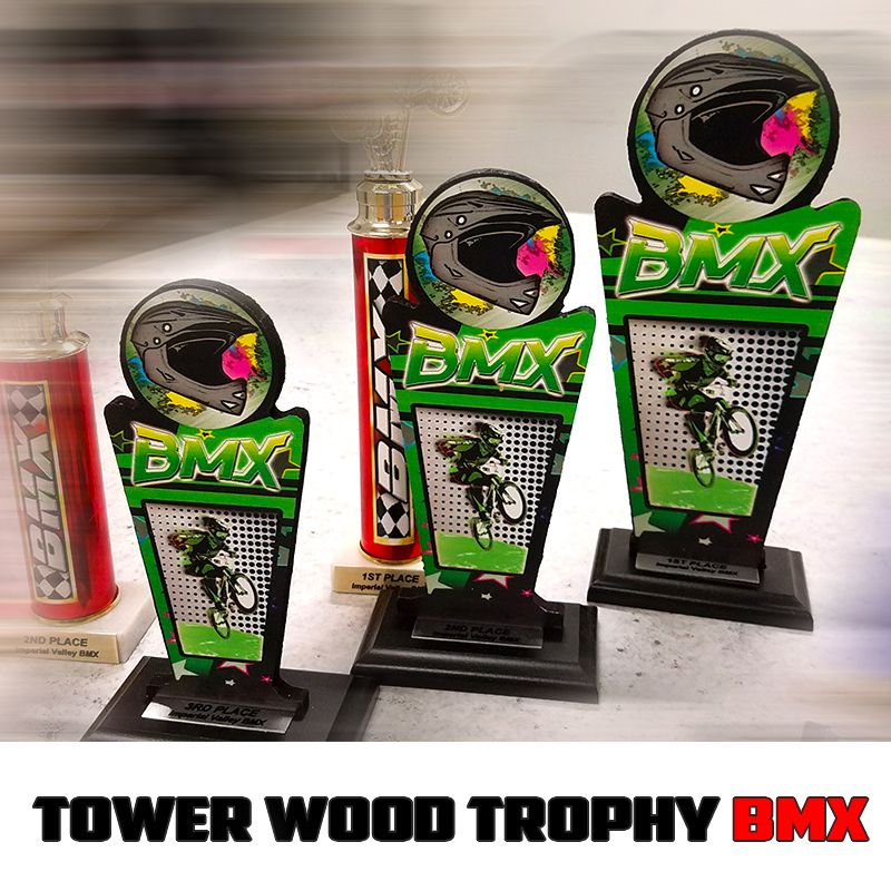 Custom Worthy Wing Wood Trophies printed with high