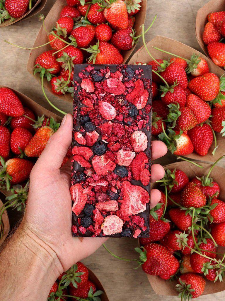 Spring Awakening Mixed Berries Dark Chocolate Bar