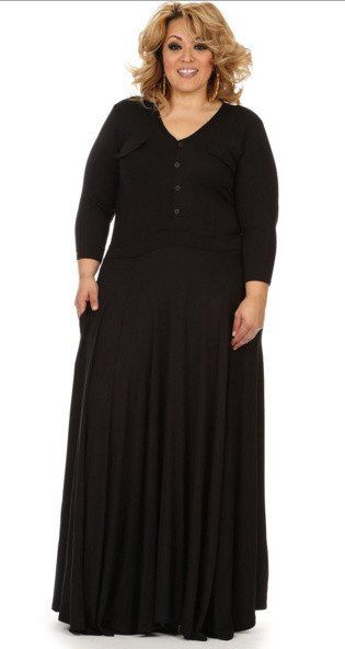 Plus size clearance maxi dress