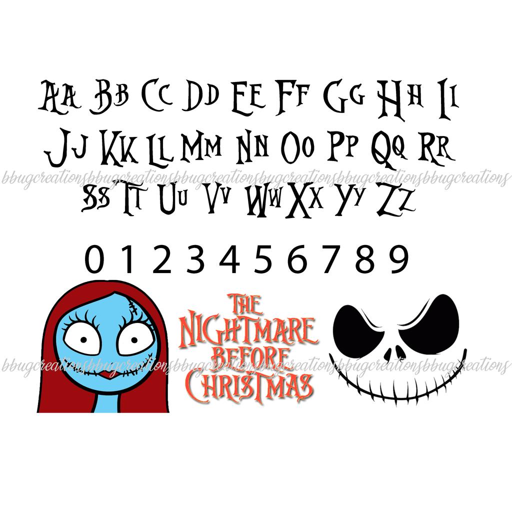 Nightmare Before Christmas Font Nightmare before