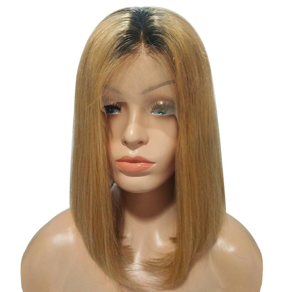 Letmeshine bob wig frontal lace wig straight 27 or 1b/27
