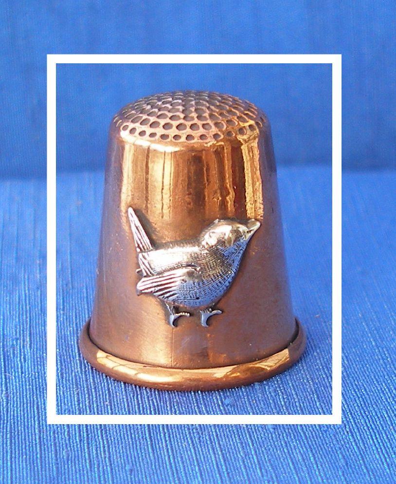 felix morel jenny wren copper thimble fingerb l thimble. Black Bedroom Furniture Sets. Home Design Ideas