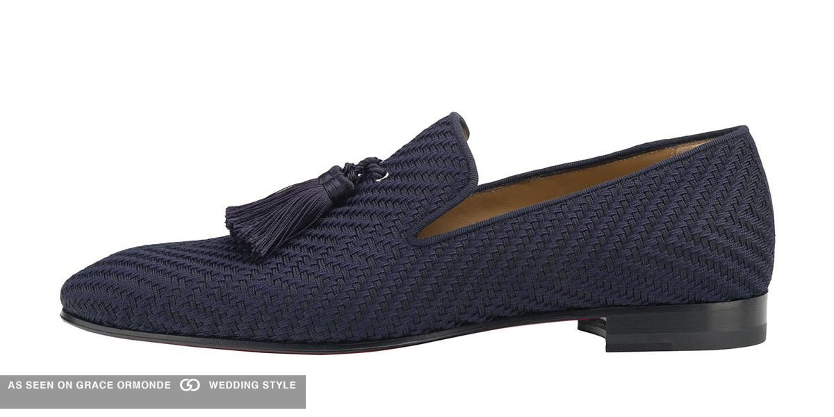 san francisco b3b11 a394d Christian Louboutin Officialito Flat, Navy Loafer