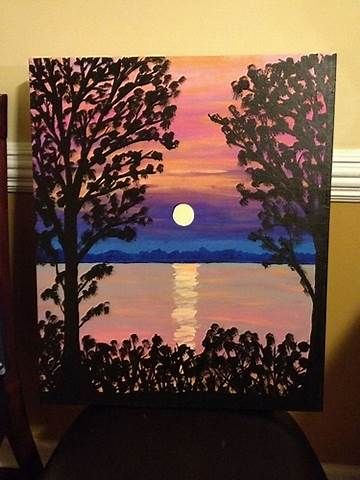 Image Result For Canvas Painting Ideas Beginners
