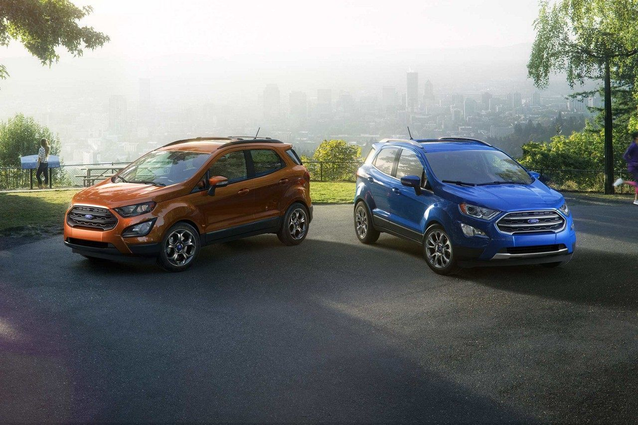 2018 Ford Ecosport Ses In Canyon Ridge And Titanium In Lightning
